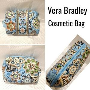 Vera Bradley Larger Cosmetic bag pouch blue